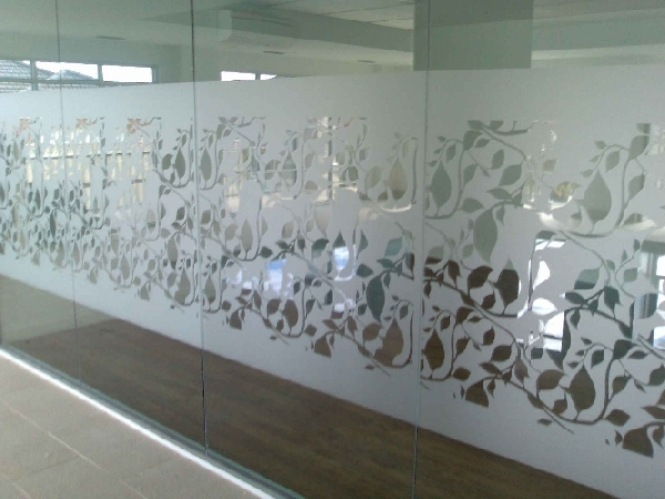 Frosted glass film grace plastics chandigarh for Frosted glass designs